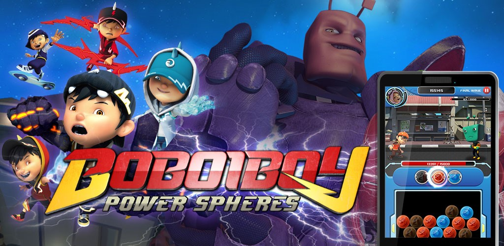 Boboiboy Power Spheres New Puzzle Game Based On Movie Out Now On