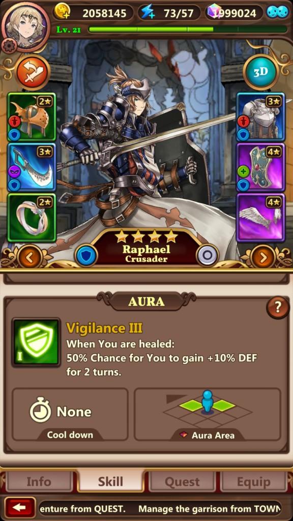 Valiant Force - Hero window 2D
